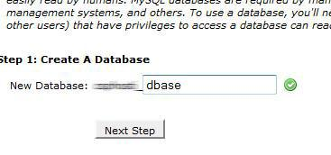 CPanel Database Name