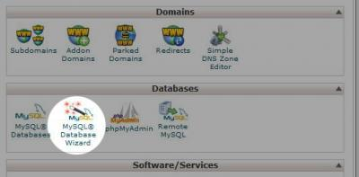 CPanel Database Wizard