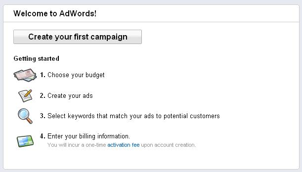 Google Adwords - Create First Campaign