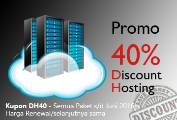 Promo Discount Hosting 40%