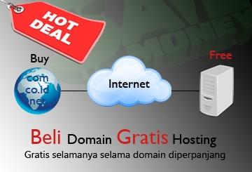 Promo Beli Domain Gratis Hosting